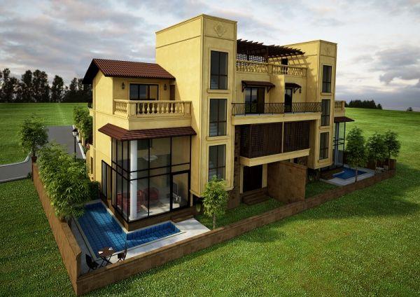 Luxury 4 bhk villas sale goa villas goa for Small house for sale in goa
