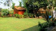 Garden area and staff quarters