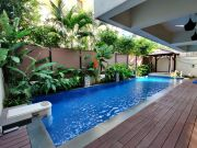 swimming pool and the deck