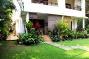 Landscaped garden and villa elevation