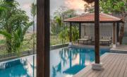 Pool, deck and the gazebo